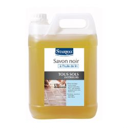 Savon noir à l'huile de lin - 5 L