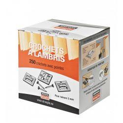 Crochet pour lambris bos 2 mm - Boîte de 250