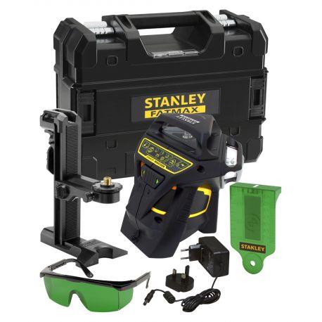 Kit Niveau laser Multiligne X3R 360° VERT + Accessoires + Malette + multisupport Fatmax- STANLEY