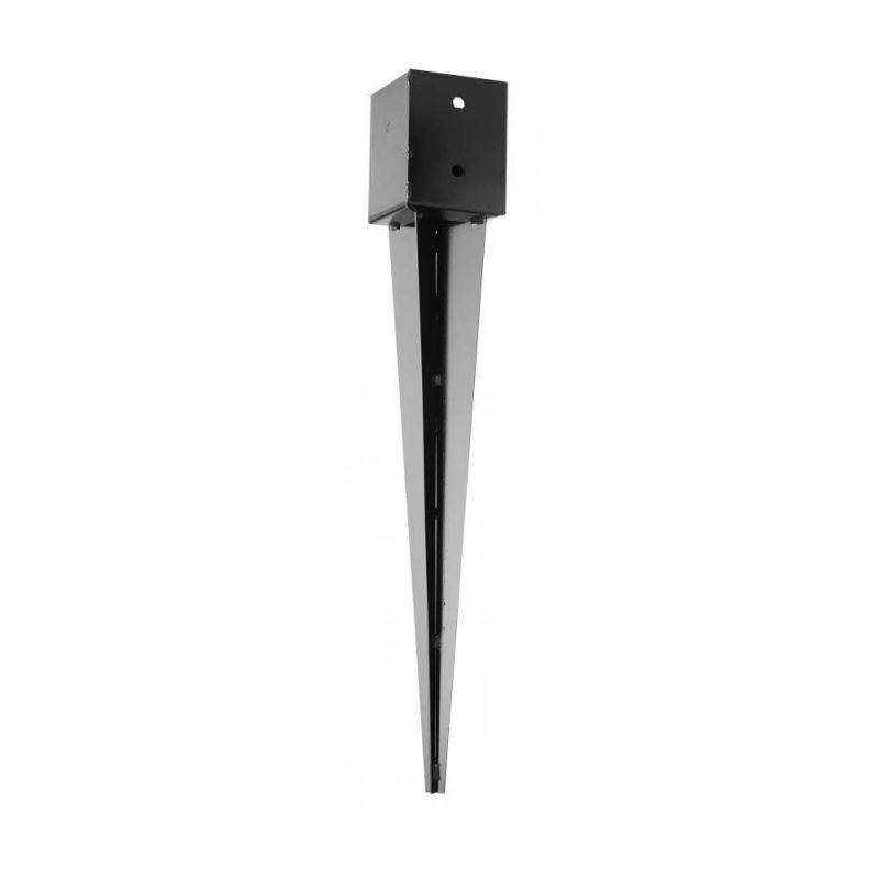 pied de poteau carr enfoncer coloris noir 91 mm manubricole. Black Bedroom Furniture Sets. Home Design Ideas