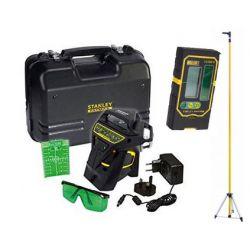 PACK Niveau laser Multiligne X3R 360° VERT + Accesoires + Malette + Canne télescopique + Cellule- STANLEY