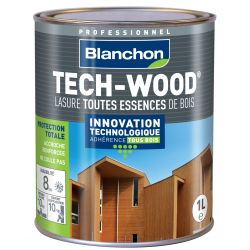 Lasure Tech-Wood Blanc - 1L - BLANCHON