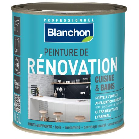 peinture r novation cuisine salle de bain 0 5l blanc manubricole. Black Bedroom Furniture Sets. Home Design Ideas